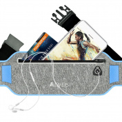 Running Waist Pouch Belt AIWEISI Lightweight Sweatproof Sport Belt Pack Fits for iphone 6 6s 26.5lxy S5 S7 Honour 8 Studio X8 for Men Women with Hidden Pouch
