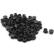 sourcingmap® Plastic Home Chair Leg Foot Protector Hole Stoppers Covers Cushion 6mm Diameter 80pcs Black