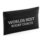 World's Best Rugby Coach Pencil Case Make Up Toiletry Bag