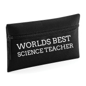 World's Best Science Teacher Pencil Case Make Up Toiletry Bag