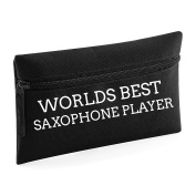 World's Best Saxophone Player Pencil Case Make Up Toiletry Bag