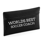 World's Best Soccer Coach Pencil Case Make Up Toiletry Bag