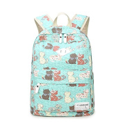 New Fashion Printed Kitten Cat Leisure Student Backpack School Bag for Teen Young Girls