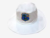 HIGH QUALITY MENS LARGE/XL WHITE CRICKET SUNHAT WITH WEST INDIES LOGO 59-60 CM