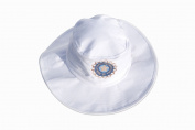 HIGH QUALITY CRICKET SUNHAT WITH INDIA LOGO/INDIA FLAG ON SIDE MENS SMALL/MEDIUM 57-58CM