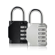 Blingco 2 Pack Combination Lock 4 Anti Rust Padlock Set Security Padlock for School Gates,Gym Door,Outdoor Travel,Luggage,Suitcase