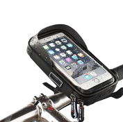 Bike Handlebar Bag, Bike Phone Holder, XPhonew Universal Waterproof Cell Phone Bicycle Handlebar & Motorcycle Mount Holder Cradle with 360 Rotate for iPhone 7 Plus 6S 6 Plus 5 5S Samsung Galaxy S8 S7 Edge S6 Edge Plus S5 Note 3 4 5 HTC Huawei Xiaomi On ..