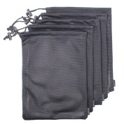 5 PCS Multi Purpose Extra Thick Mesh Drawstring Storage Pouch Bags for Travel & Outdoor Activity by Erlvery DaMain