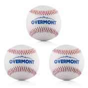 Overmont Softball Baseball Softball Synthetic Leather, White