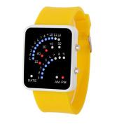 Women Mens Futuristic Style Multicolor LED Sport Wrist Watch by XILALU