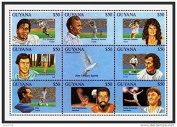 Imperial Mint Guyana- 1993 20th Century Sports Stamp- sheetlet of 9