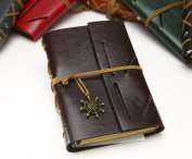 Voyage Diary-style notes antique diary diary diary book note book Organiser cute featured gift antique fashion Stationery Office supplies Office products leather travel