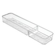 InterDesign Vanity Storage, Divided Tray 1, Clear