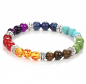 Malloom 2017 Fashion Colourful Natural Stone Beads Chakra Bracelet for Women Bracelets Jewellery