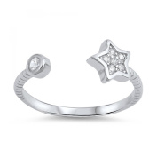 925 Sterling Silver Star Toe Ring