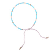 KELITCH Blue Colour Seed Beaded Thin Rope String Braided Bracelet for Girl Women - #12