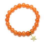 Natural Jade Gemstone Beaded 8x8mm Stretch Bracelet 18cm 1 piece available FREE Gift Box