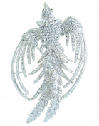 Sindary Unique 9cm Bird Phoenix Brooch Pin Austrian Crystal Animal Pendant UKB2338