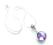Liberty Charms 'June Birthstone' Sterling Silver Necklace with Silver Plated 18mm Pendant