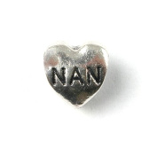 Liberty Charms Silver Plated Nan Heart Charm Will Fit Most Charm Bracelets