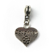 Liberty Charms Silver Plated Daughter Drop Charm Will Fit Most Charm Bracelets