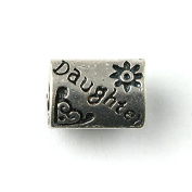 Liberty Charms Silver Plated Daughter Triangle Charm Will Fit Most Charm Bracelets