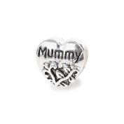 Liberty Charms Silver Plated Mummy Heart Charm Will Fit Most Charm Bracelets