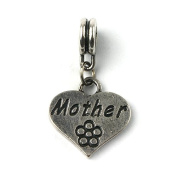 Liberty Charms Silver Plated Mother Drop Charm Will Fit Most Charm Bracelets