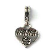 Liberty Charms Silver Plated Nana Drop Charm Will Fit Most Charm Bracelets