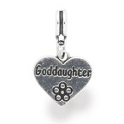 Liberty Charms Silver Plated God-Daughter Drop Charm Will Fit Most Charm Bracelets