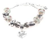 'Happy Retirement' Charm Bracelet with Gift Box Women's Jewellery