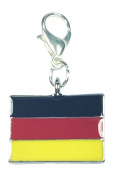 Germany Flag, Bundesflagge und Handelsflagge, German Flag Clip On Charm Handmade by Libby's Market Place