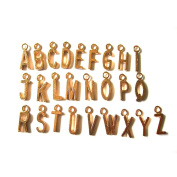 Alphabet Letters gold tone charms pendant for locket necklace and bracelet handmade jewellery Clip On Lobster Clasp charms Fits Thomas Sabo