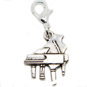 Silver tone music piano clip on Bead for European Bracelet Charm Bracelets Charms pendants