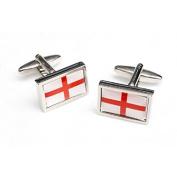 High Quality England St George Cross with Border Flag Cufflinks