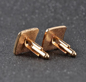 Cosanter Stud Cufflinks Business Crystal Rhinestone Cufflink for Wedding Office Suits 1 Pair
