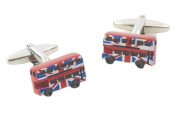 Union Jack Route master Red London Bus Cufflinks