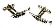 Trumpet Pewter Cufflinks