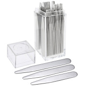 PiercingJ 36pcs Metal Collar Stays in a Clear Plastic Box 3 Sizes