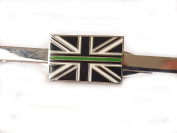 Thin Green Line Tie Clip Ambulance Service Remembrance Subdued Union Jack