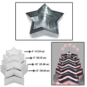 Set of 4 Tier Star Multilayer Birthday Wedding Anniversary Cake Tins / Pans / Mould by Falcon