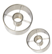 Ateco Stainless Steel Donut Cutter Set of 2 : Ø 6.4cm and 8.9cm .