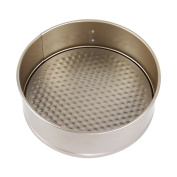 bouti1583 Carbon Steel Round Springform Pan Cheesecake Baking Pan Non-stick Leakproof Cake Mould 20cm Golden