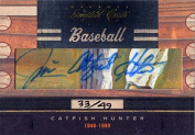Jim Catfish Hunter Autographed 2011 Panini Donruss Limited Cuts Card