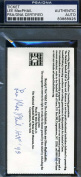 LEE MACPHAIL SIGNED PSA/DNA CERTED HOF TICKET AUTHENTIC AUTOGRAPH