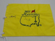 Adam Scott & Guan Tianlang Signed 2013 Masters Pin Flag Autographed Very Rare - Autographed Pin Flags