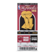 LeBron James Signed 2013 NBA Finals Game 7 Mega 14x33x1 Ticket,UDA- Limited to 100