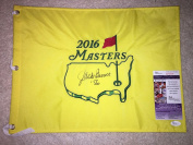 Jack Burke Signed/Auto Official Masters Flag 1956 Masters Champion - JSA Certified - Autographed Pin Flags