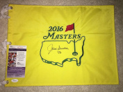 Jack Burke Signed/Auto Official Masters Flag 1956 Masters Champion #2 - JSA Certified - Autographed Pin Flags