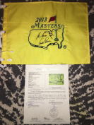 Jack Nicklaus, Arnold Palmer & Gary Player signed Official Masters Flag Auth - JSA Certified - Autographed Pin Flags